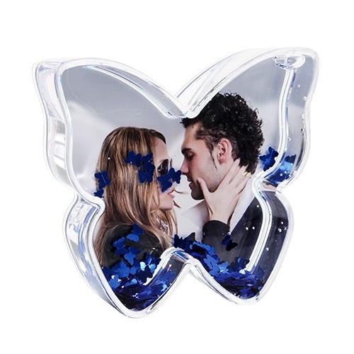 Boule photo en forme de Papillon - Papillons bleus