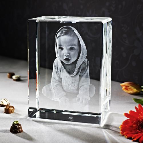 Cube 3D TERRA V en verre Viamant personnalisable