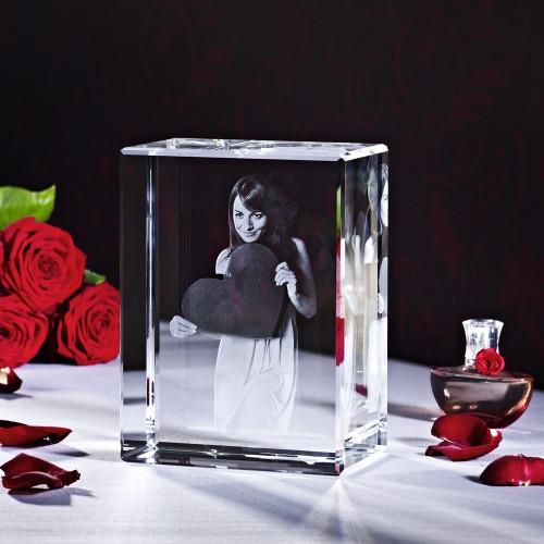 Cube 3D BIG BLOCK V en verre Viamant personnalisable