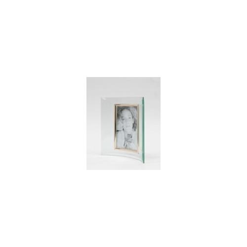 Cadre photo galbé vertical en verre