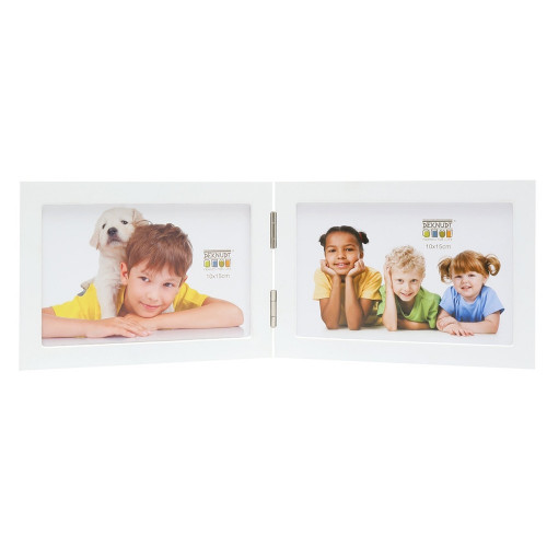 Cadre photo duo horizontal Deknudt S68FK1 H2H blanc 13x18