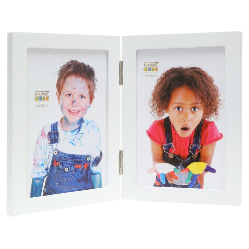Cadre photo duo vertical Deknudt S68FK1 H2V blanc 13x18