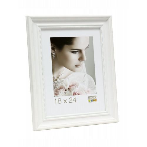 Cadre photo Deknudt S45HF1 - Retro blanc avec filet de perles 30x45