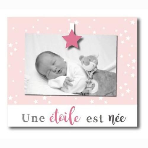 """Cadre photo enfant """"Une étoile est née"""" 10x15"""