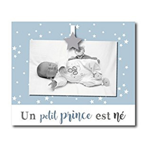"""Cadre photo enfant """"Un petit prince est né"""" 10x15"""