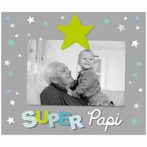 "CADRE PHOTO ENFANT ""SUPER PAPI"" 10x15"