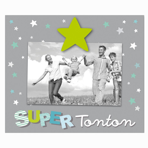 "CADRE PHOTO ENFANT ""SUPER TONTON"" 10x15"