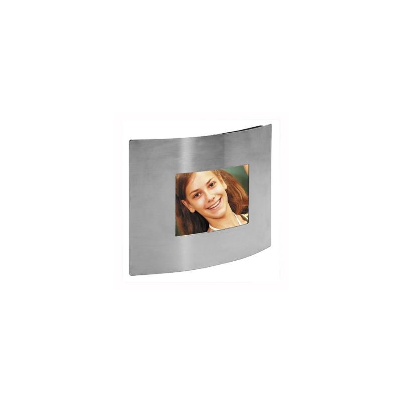 Cadre photo galbe 6x9 - Argent