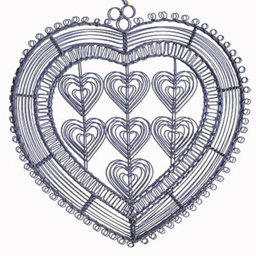 Pêle-mêle Coeur en fil de fer  39x39
