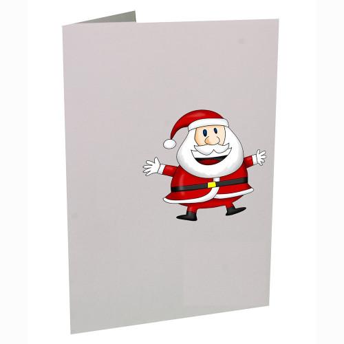 Cartonnage de Noël - Vertical - Grand Père Noël souriant