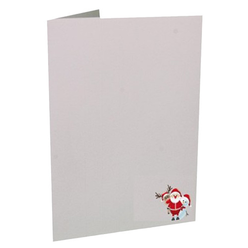 Cartonnage photo de Noël - Vertical - Père Noël Trio