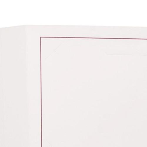 Cartonnage photo octo blanc - Liseré grenat
