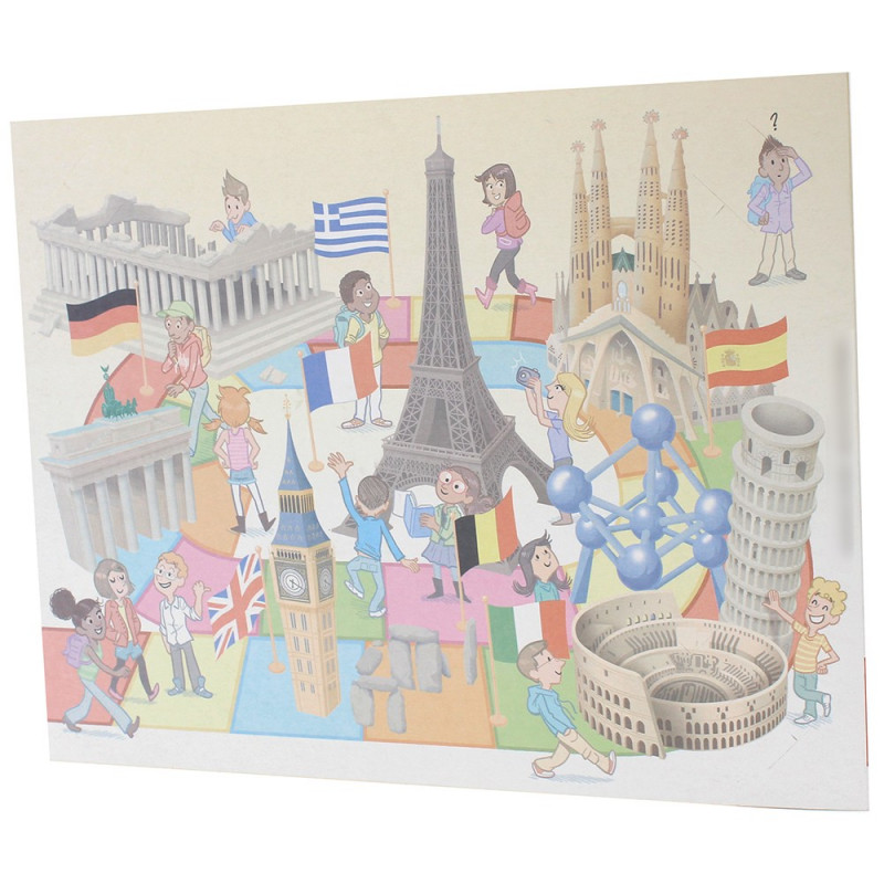 Cartonnage photo scolaire - Groupe 20x30 - Europe - dos