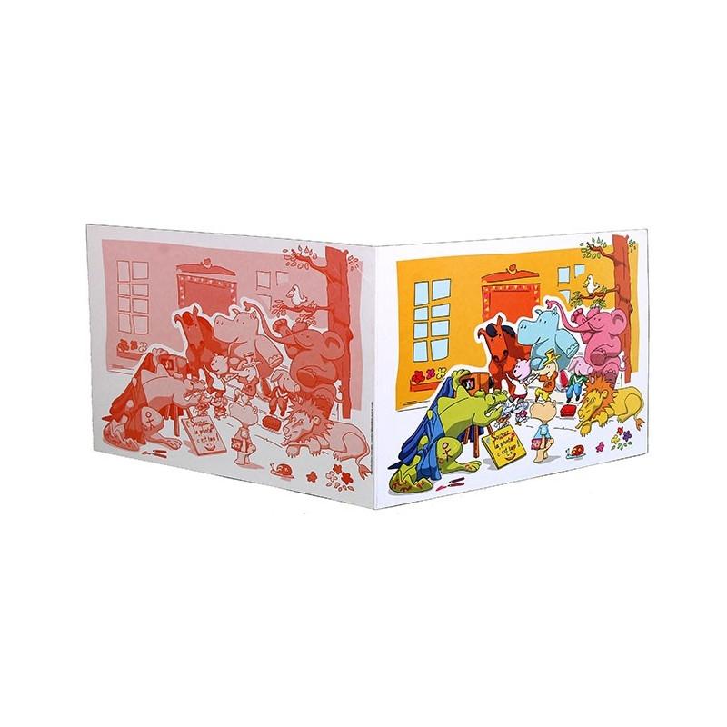 Cartonnage photo scolaire - Groupe 20x30 avec RABAT - Les Animaux new