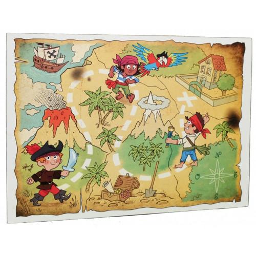 Cartonnage photo scolaire - Groupe 20x30 avec RABAT - La chasse au trésor