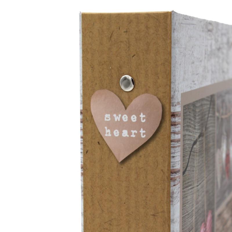 Classeur photo à pochettes Sweet Heart pour 400 photos 10x15