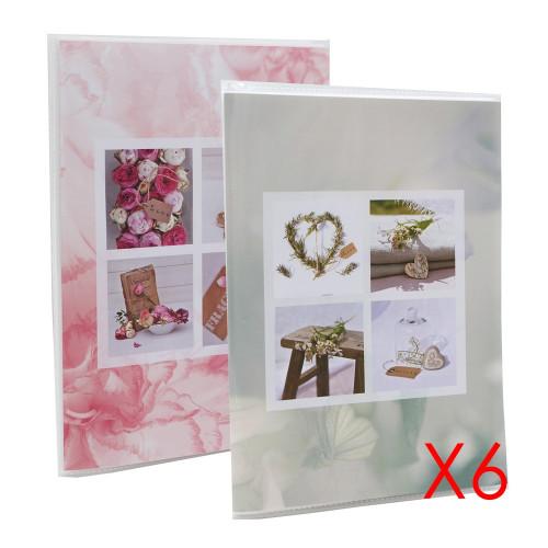 Lot de 12 albums photo Blooming Love 64 pochettes 11X15