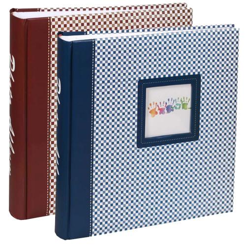Lot 2 albums photo traditionnel Elements brun et bleu