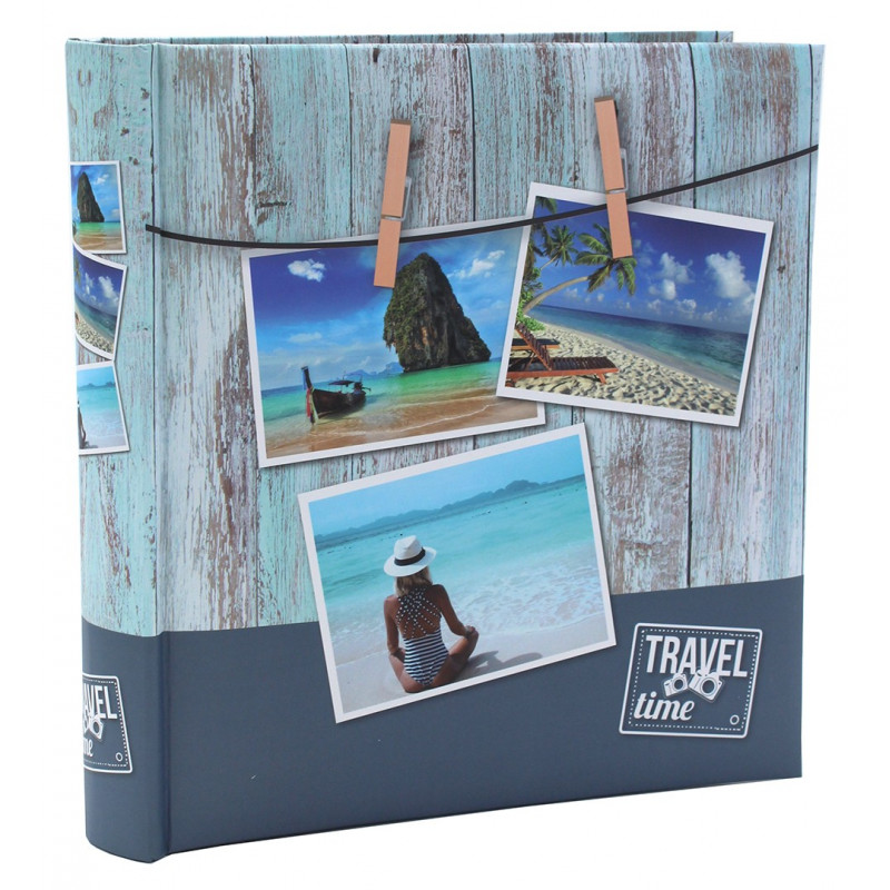 LOT 2 ALBUMS PHOTO TRAVEL TIME II 200 POCHETTES 10x15