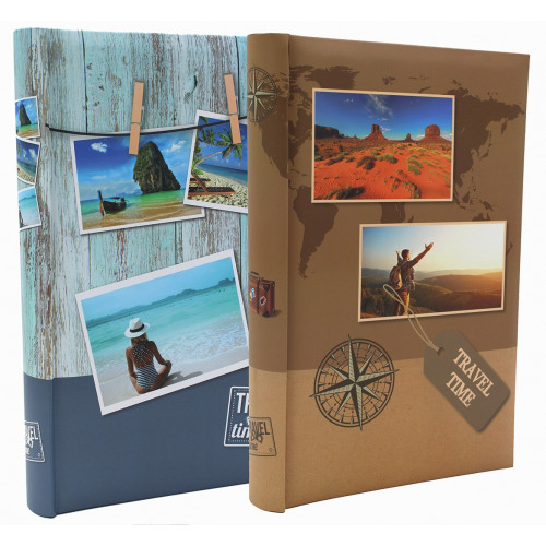 LOT 2 ALBUMS PHOTO TRAVEL TIME II 300 POCHETTES 10x15