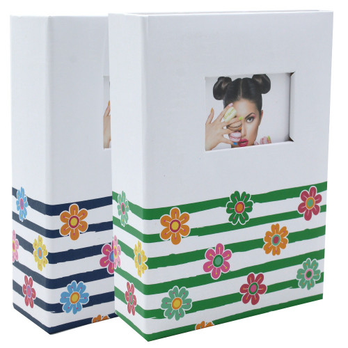 Lot de 2 mini albums photo Shining Flowers 100 pochettes 10X15