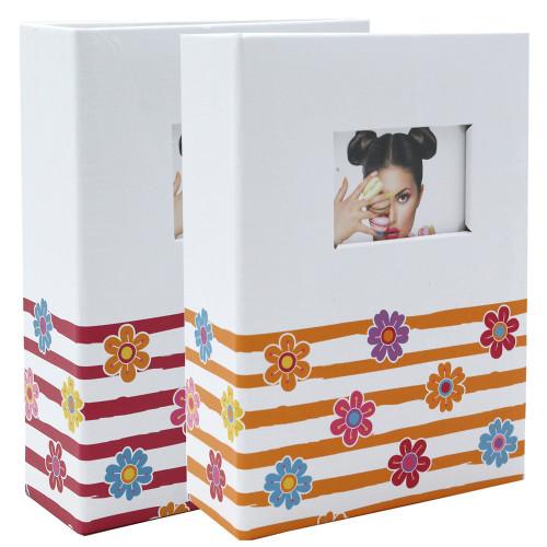 Lot de 2 mini albums photo Shining Flowers 100 pochettes 10X15
