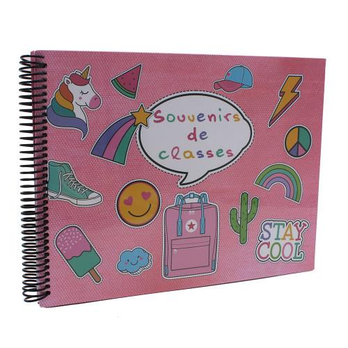 Album photo scolaire Souvenirs de classe STAY COOL
