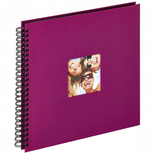 Album photo traditionnel Fun Violet à spirales 200 photos