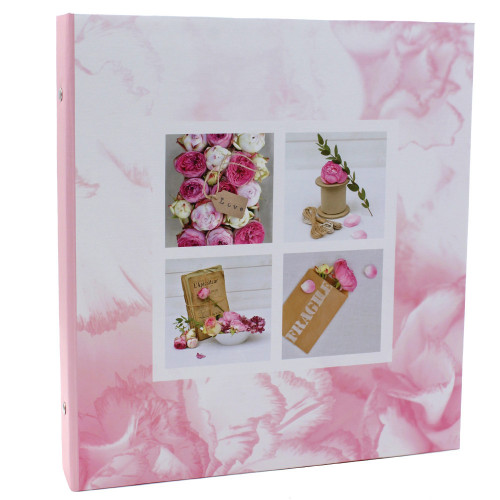 Classeur photo à pochettes Blooming Love Rose pour 400 photos 11x15