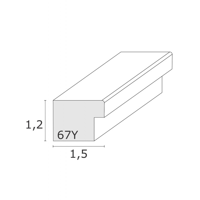 S67YV7 CADRE OVALE GRIS DEKNUDT PROFIL