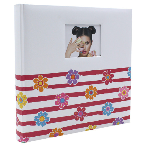 ALBUM TRADITIONNEL SHINING FLOWERS  POUR 400 PHOTOS 10X15 FACE ROSE