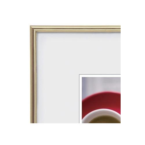 Cadre photo carré galerie résine doré - Walther