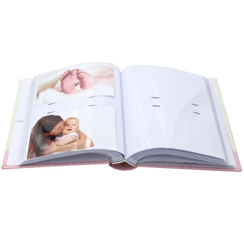 ALBUM PHOTO NAISSANCE STARS 200 POCHETTES 10X15 OUVERT