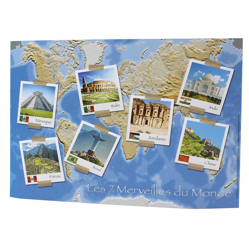 Cartonnage photo scolaire - Groupe 20x30 - Les 7 Merveilles du Monde - verso