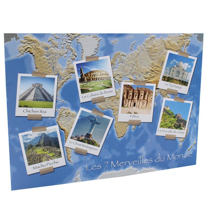 Cartonnage photo scolaire - Groupe 20x30 - Les 7 Merveilles du Monde - face