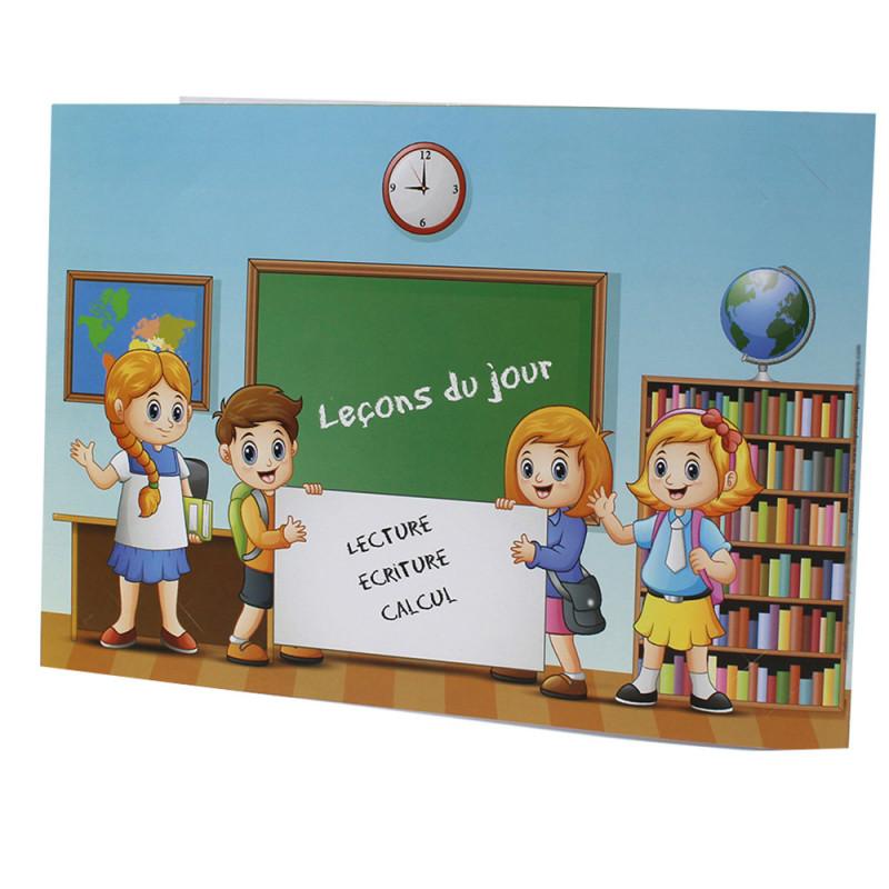 Cartonnage photo scolaire - Groupe 20x30 - Leçon - verso