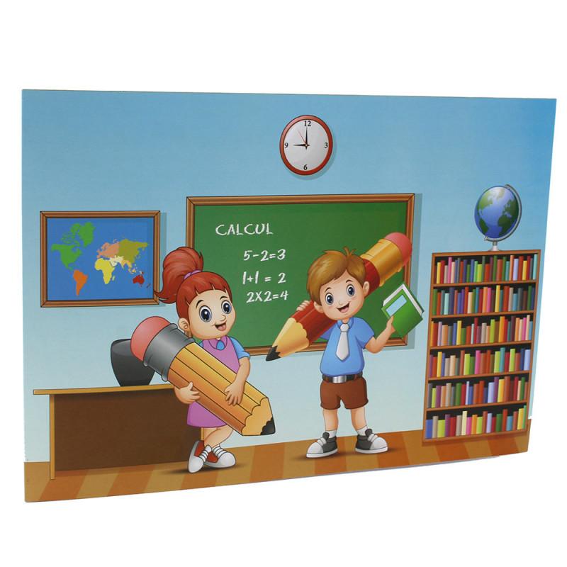 Cartonnage photo scolaire - Groupe 20x30 - Leçon - face