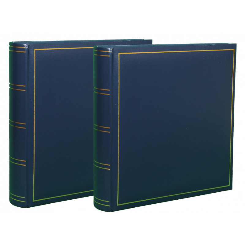 LOT-2-ALBUMS-PHOTO-TRADITIONNEL-JUMBO-SUPER-XL-BLEU