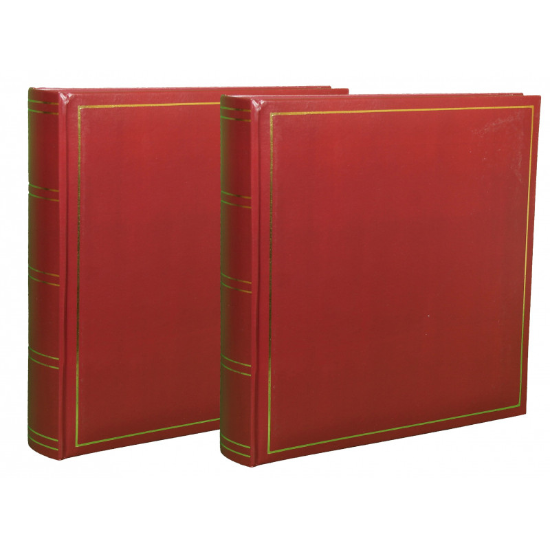 LOT-2-ALBUMS-PHOTO-TRADITIONNEL-JUMBO-SUPER-XL-BORDEAUX