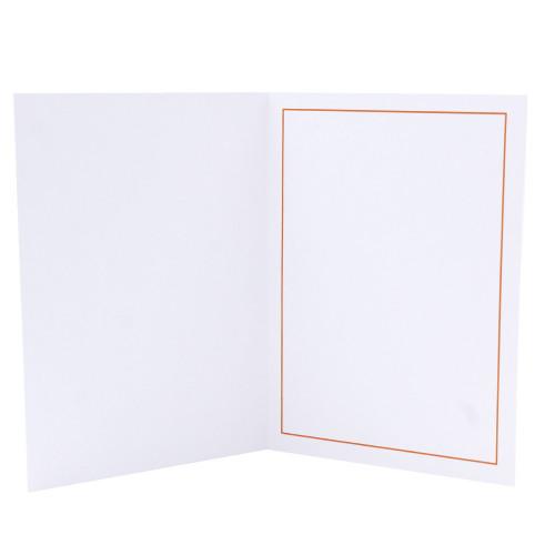Cartonnage photo blanc - Liseré Orange