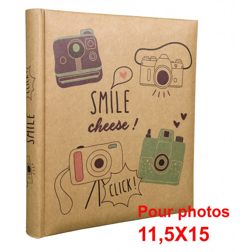 ALBUM PHOTO SMILE MULTI 200 POCHETTES 11,5X15