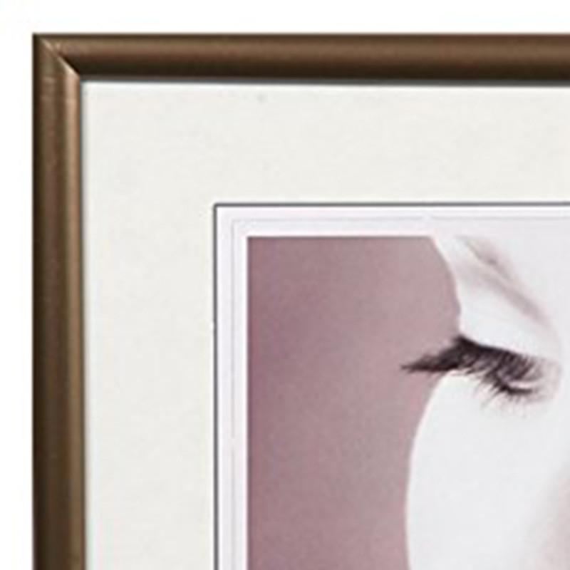Cadre photo Galerie Carré résine Anthracite-détail