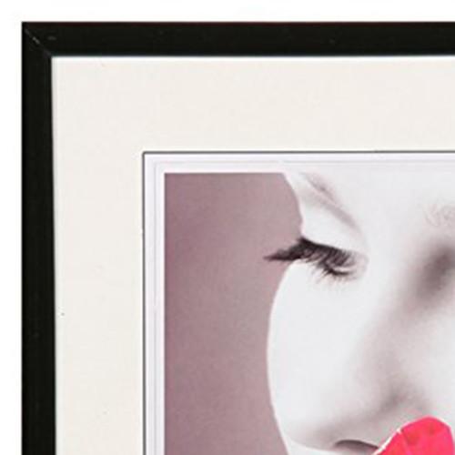 Cadre photo Galerie Carré résine Noir-detail