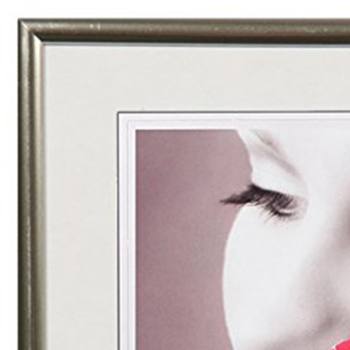 Cadre photo Galerie Carré résine Argenté-detail