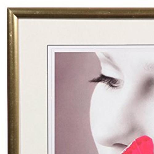 Cadre photo Galerie Carré résine Doré-detail