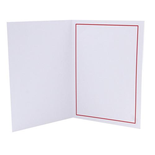 Cartonnage photo blanc - Liseré Rouge