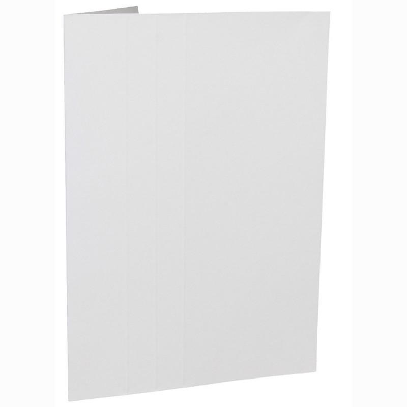 Cartonnage photo blanc - Liseré Vert clair