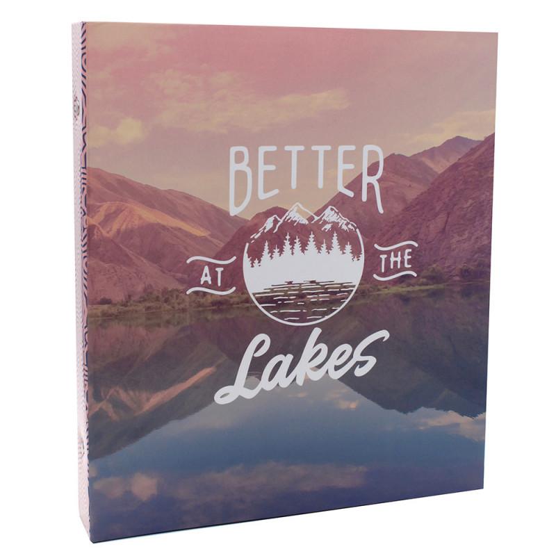 Lot de 2 classeurs photo à pochettes SUNSHINE pour 400 photos 11,5x15 - face Lakes