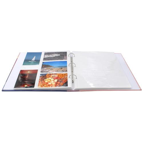 Lot de 2 classeurs photo à pochettes SUNSHINE pour 400 photos 11,5x15 - ouvert