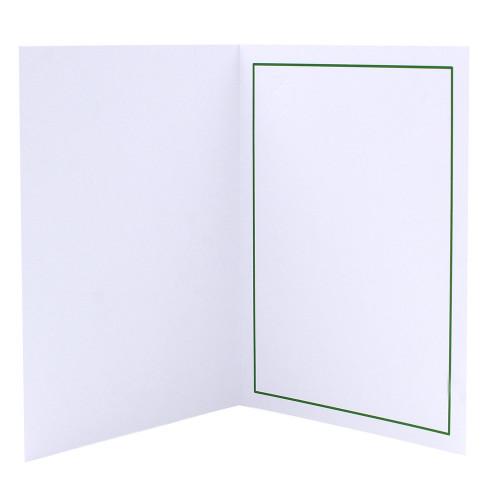 Cartonnage photo blanc - Liseré Vert foncé